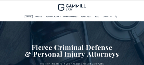 Gammill Law website screenshot
